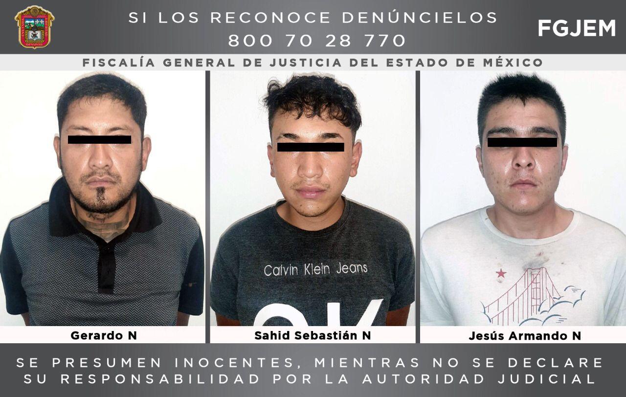 Vinculan a proceso a tres sujetos al parecer integrantes de la banda Nuevo Imperio, investigados por un homicidio en Huixquilucan