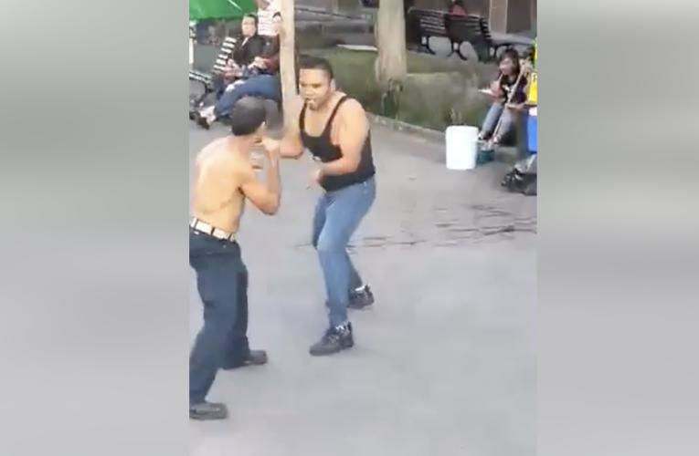 Boxean en el centro de Guadalajara